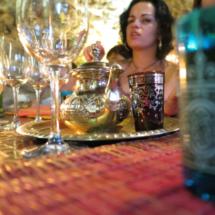 Cena familiar en El Jardín del Califa, en Vejer