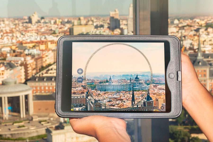 Vistas de Madrid con realidad aumentada