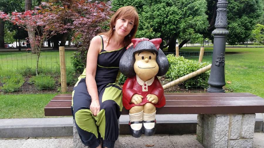 Foto con Mafalda