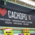 Cartel anunciando cahopos en Oviedo