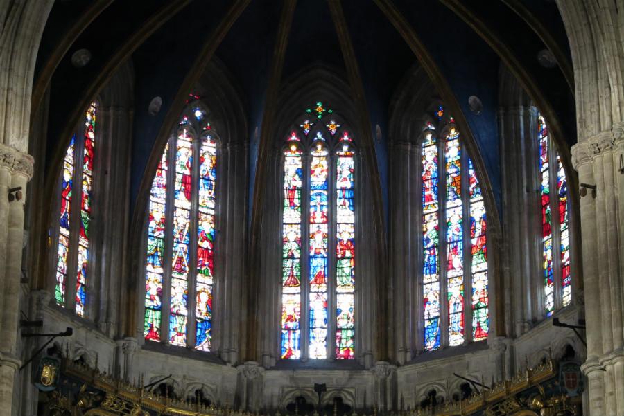 Vidriera de la Catedral de Oviedo