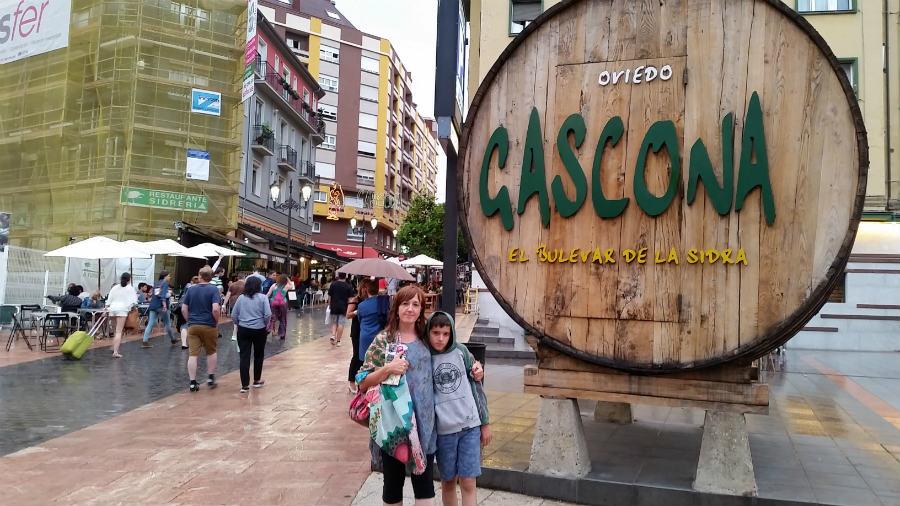 Zona de tapas y sidrerías de Oviedo