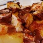 Pulpo en un restaurante de Oviedo