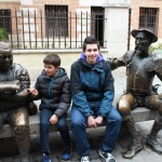 Estatua del Quijote y Sancho
