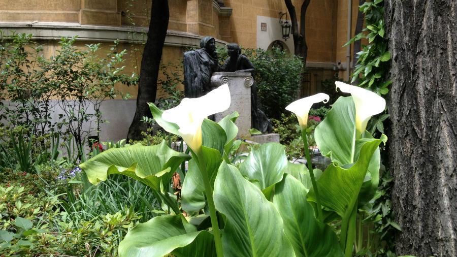 Detalle de las plantas del Museo Sorolla de Madrid