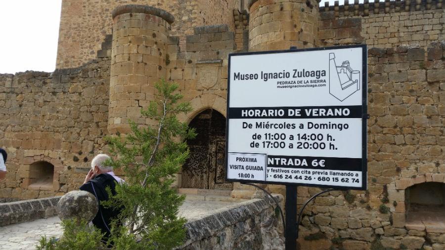 El Castillo de Pedraza alberga actualmente el Museo Zuloaga