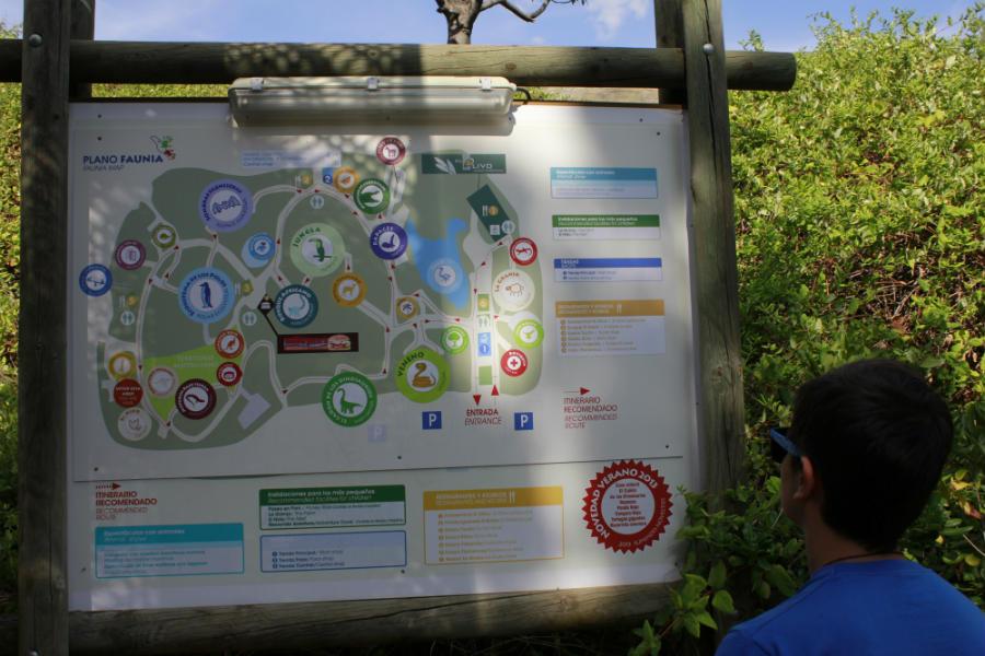 Planifica tu visita a Faunia con el mapa, en función de las actividades