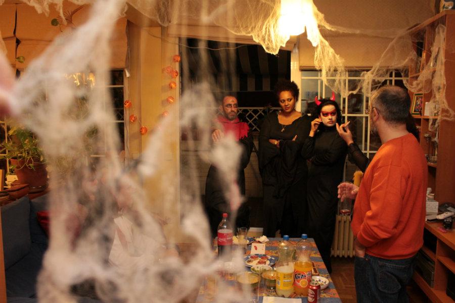 Fiesta de Halloween con niños