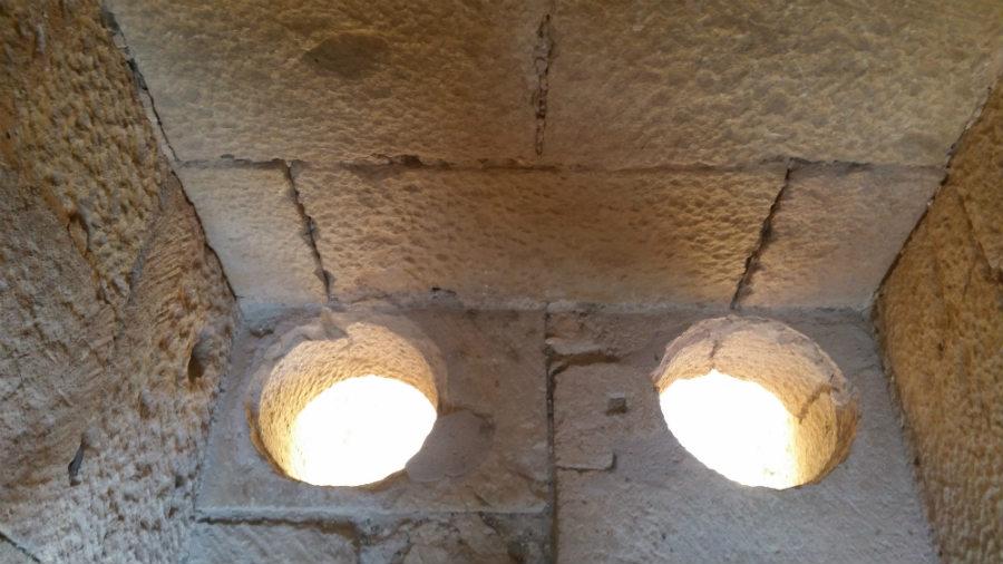 Letrinas del Castillo de Pedraza
