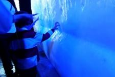 Reproducción del iceberg del Titanic