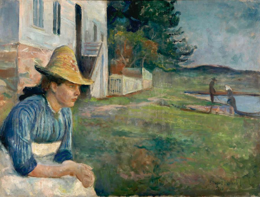 Atardecer, de Edvard Munch