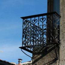 Detalle de un balcón de Pedraza