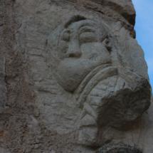 Relieve en una fachada de Pedraza