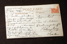 Postal original del Titanic