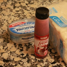 Ingredientes para una receta de Halloween: ataúdes de queso