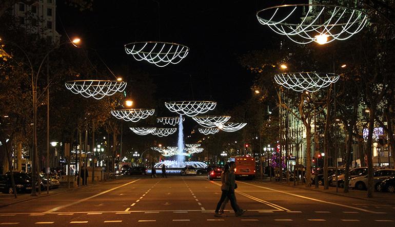 Luces de Navidad en el Passeig de Gràcia