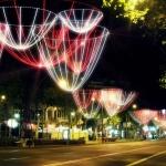Recreación del diseño de luces navideñas de Barcelona
