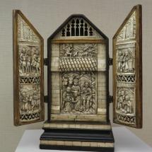 Belén retablo español de marfil