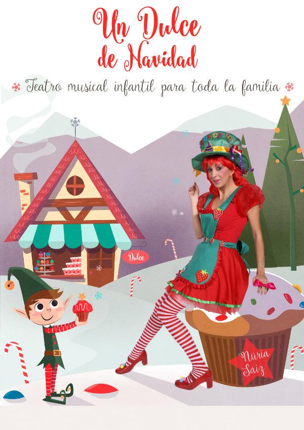 Cartel de Un Dulce de Navidad, teatro musical para niños