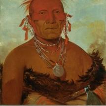 Fotografía del jefe indio Caballo del Lejano Oeste