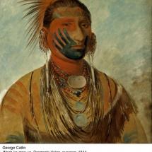 Fotografía del jefe indio Danzante del Lejano Oeste