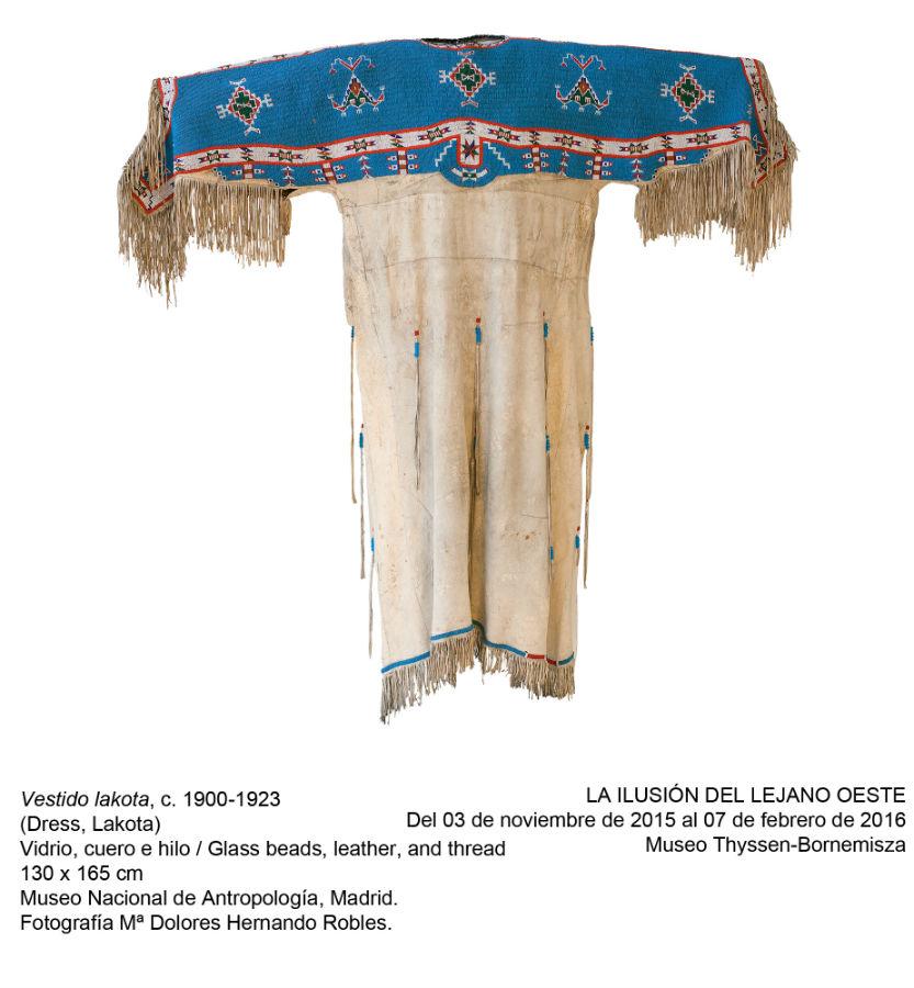 Exposición del Lejano Oeste en el Thyssen: vestido indio