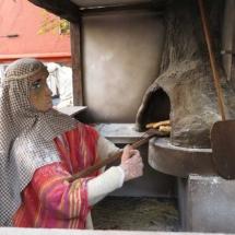 panadero en el Belén de El Escorial