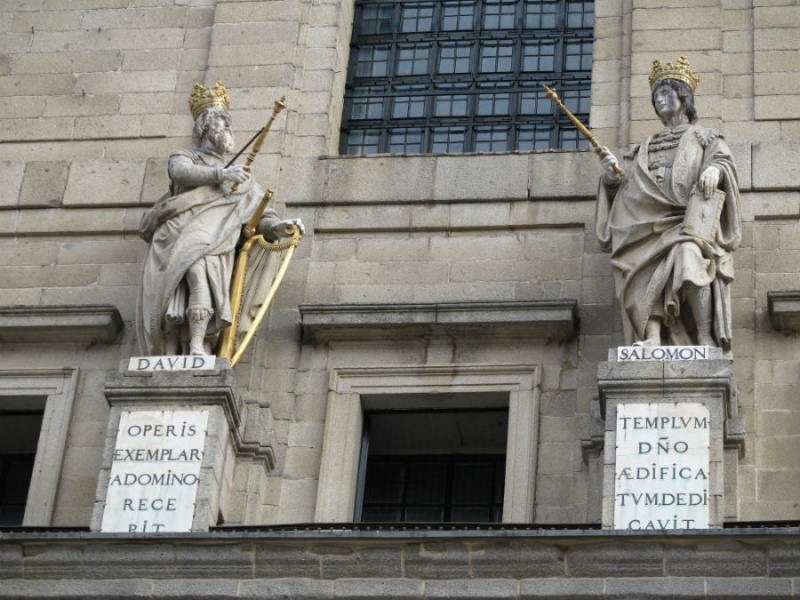 Detalle del Patio de Reyes de El Escorial