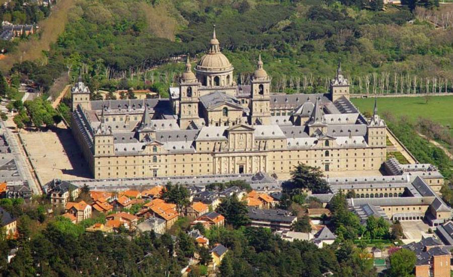 Vista aérea del Monasterio de El Escorial