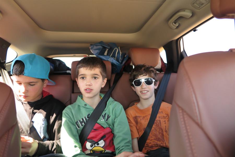 En el Hyundai Santa Fe, en El Desierto de los Niños