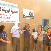 Recibimiento en la escuela de El Desierto de los Niños