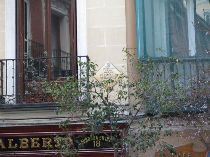 Casa de Cervantes en la calle Huertas