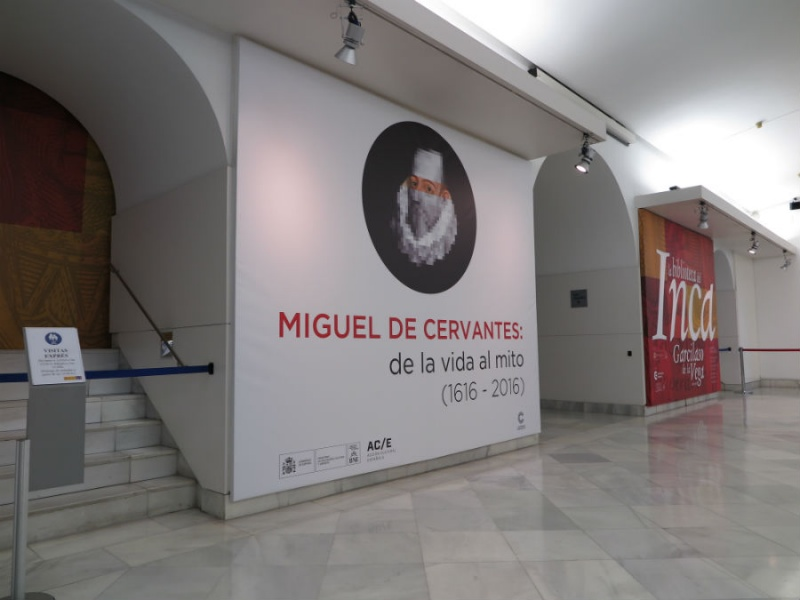 Entrada exposición Cervantes