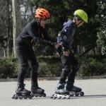 Curso de patinaje para padres e hijos