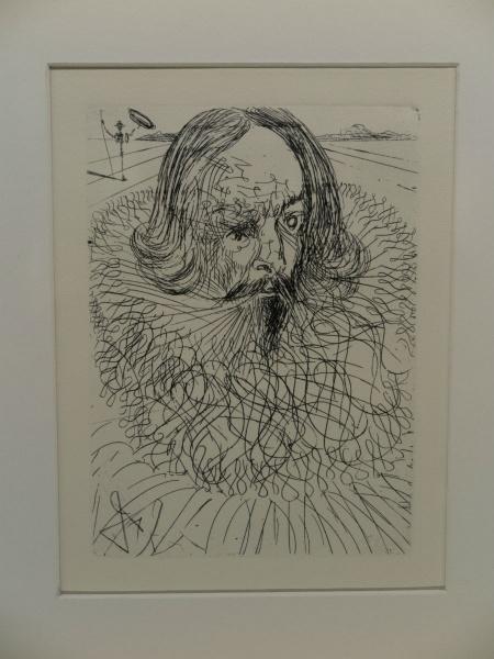 Dibujo don Quijote por Dalí
