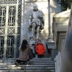 Estatua de Cervantes, Bibilioteca Nacional