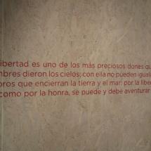 Frase de Cervantes sobre la libertad