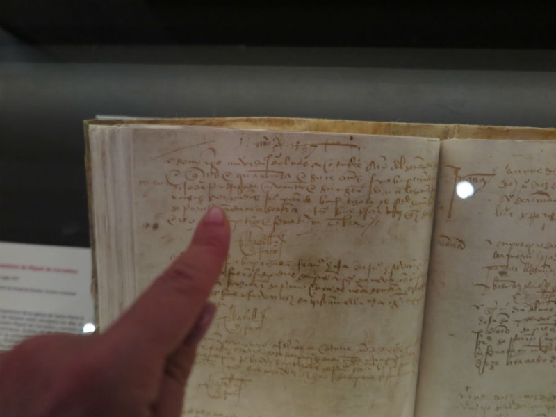 Partida de bautismo de Cervantes