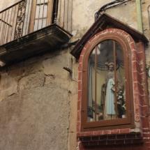 Santo en las calles de Montblanc