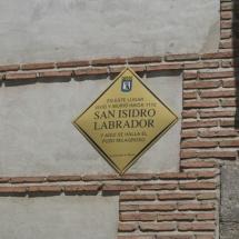 Placa indicativa de la Casa de San Isidro