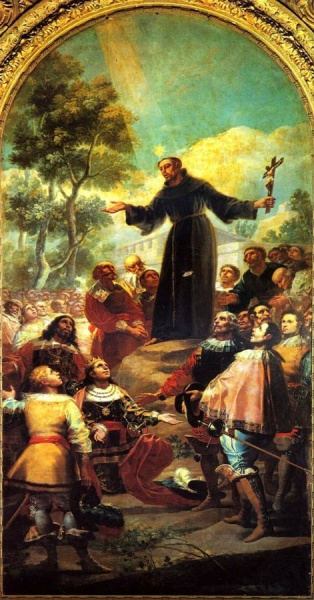 San Bernardino, de Goya, en San Francisco El Grande