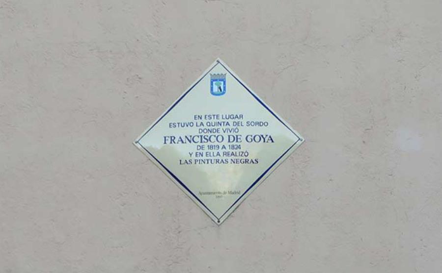 Placa indicativa de la casa de Goya en Madrid