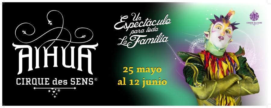 Cartel de AIHUA en Madrid