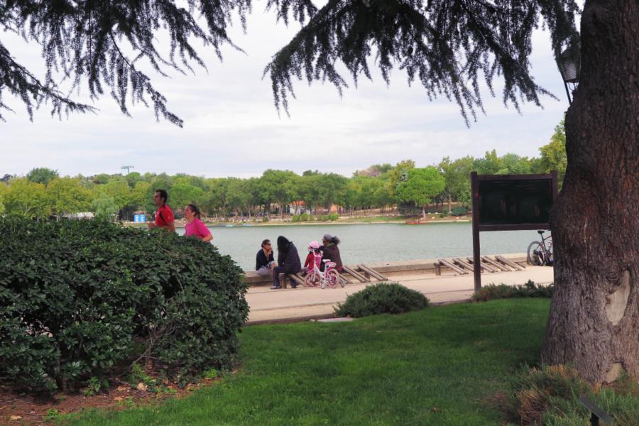 Entorno del Lago de la Casa de Campo de Madrid