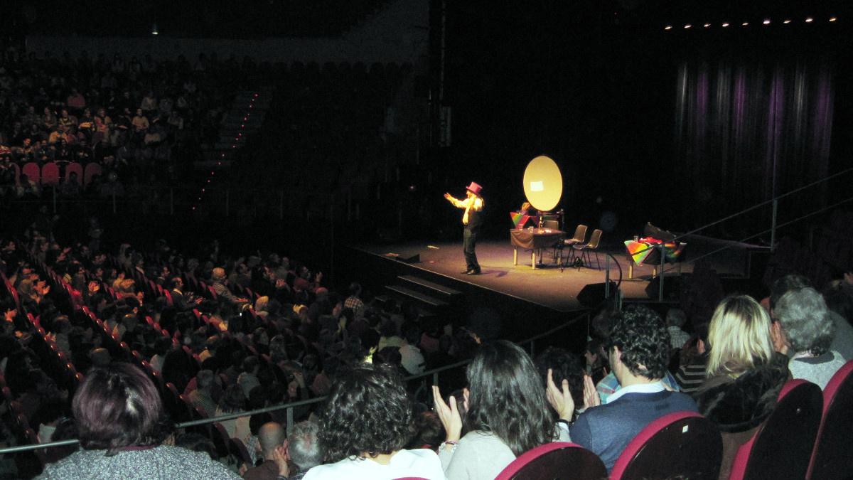 Espectáculo de magia en el emblemático Circo Price de Madrid, antes del coronavirus