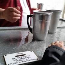 Ranura para limosnas y donativos en San Isidro