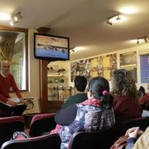 Audivisual sobre abejas en el museo de Poyales del Hoyo