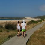 La duna de Bolonia, con niños