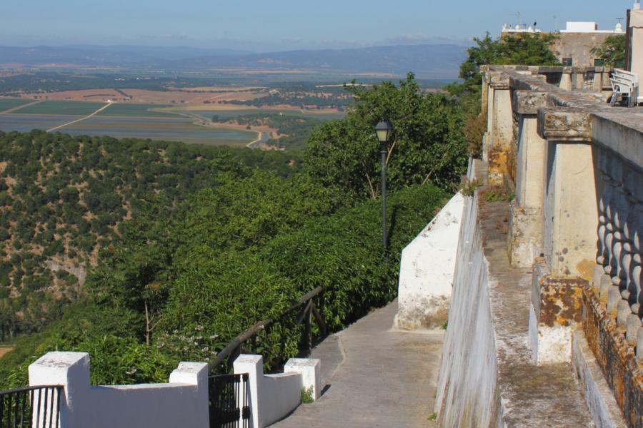 Vistas desde el castillo de Vejer de la Frontera