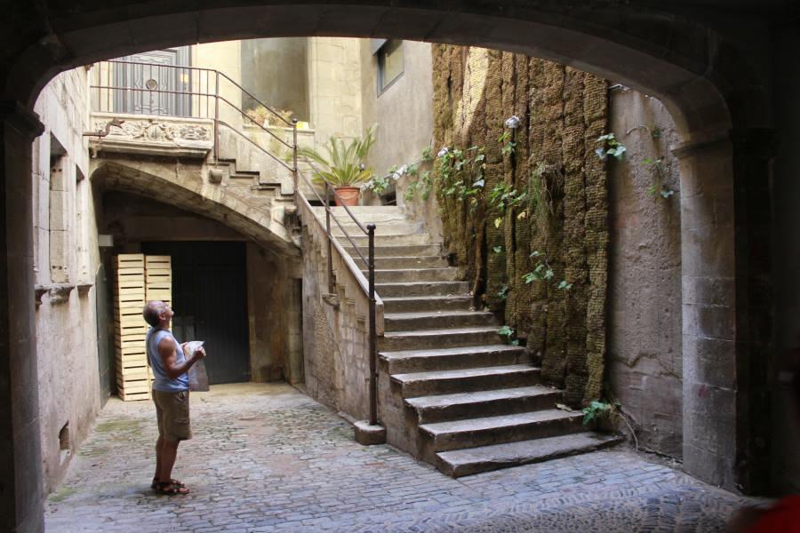 Escalera en el Barrio Judío de Girona